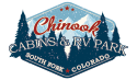 Chinooks Snowy Pine Cabins RV Park South Fork Colorado Logo