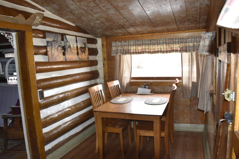 Moose Lodge Cabin Kitchen