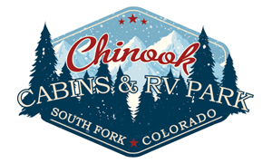 Chinook Cabins Rentals RV Park South Fork Colorado Logo